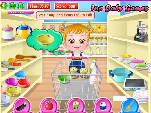 Game em bé đi siêu thị có gì thú vị và tốt cho bé