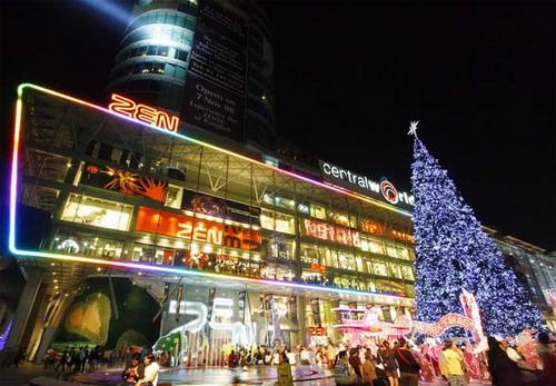 Không gian ở Central World trong dịp lễ Giáng sinh