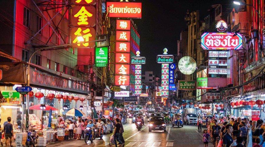 Khung cảnh nhộn nhịp của khu phố người Hoa tại Thái Lan