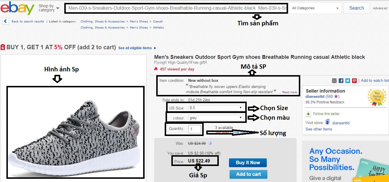 Kinh nghiệm chọn sản phẩm khi mua hàng trên ebay